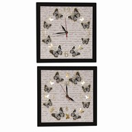 LED Butterfly Clock 30cm 2 Assorted