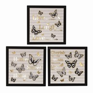 LED ButterFly Wall Art 30cm 3 Assorted