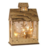 LED Christmas House Natural 20x29cm