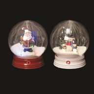 LED Musical Christmas Snowball 26cm 2 Assorted