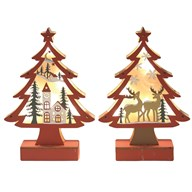 LED Christmas Tree 23.5cm 2 Assorted
