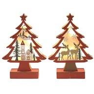 LED Christmas Tree 23.5cm 2 Assorted