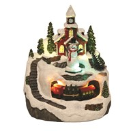 LED Christmas Village 13x15cm
