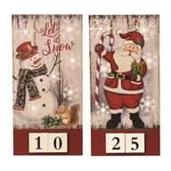 LED Countdown to Christmas 30cm 2 Assorted