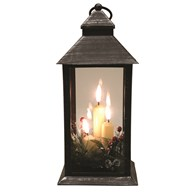 LED Deco Black Lantern 31cm