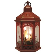 LED Deco Red Lantern 30cm