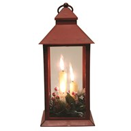 LED Deco Red Lantern 31cm
