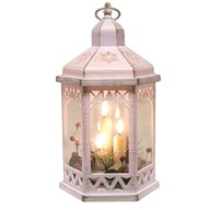 LED Deco White Lantern 30cm