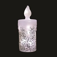 LED Glitter Candle Silver 22cm