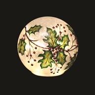 LED Holly Crackle Ball 15cm