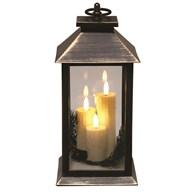 LED Lantern 30cm Black