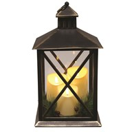 LED Lantern 40cm Black