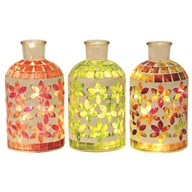 LED Mosaic Jar  20cm  3 Assorted