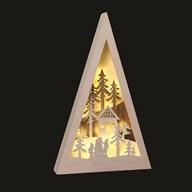 LED Pyramid Reindeer 25x40cm
