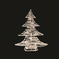 LED Rattan Xmas Tree 60cm