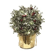 LED Red Berry Arrangement 27cm