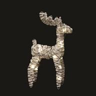 LED Reindeer (20L) White 42cm