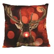 LED Reindeer Cushion 45cm