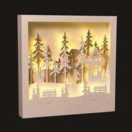 LED Reindeer Scene 30x30cm