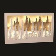 LED Reindeer Scene 40x24cm