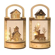 LED Round Lantern 56x39cm 2 Assorted