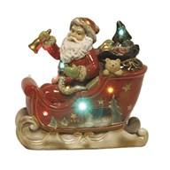 LED Santa In Sleigh 22x21cm