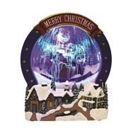 LED Santa Scene Snow 26.5cm