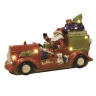 LED Santa Truck 38.5 x 23.5cm