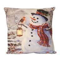 LED Snowman Cushion 40cm