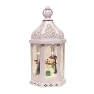 LED Snowman Decor Lantern 38cm