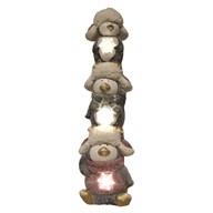 LED Stacked Xmas Penguin 59cm