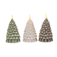 LED Tree Candle 17cm Assorted