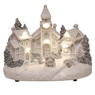 LED Village Scene 23x18cm