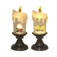 LED Water Globe Candle 2 Assorted