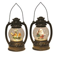 LED Water Globe Lantern 2 Assorted