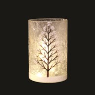 LED Winter Scene Vase 18cm