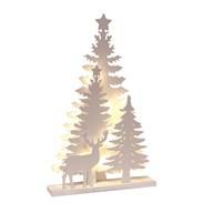 LED Wooden Forest Scene 46cm