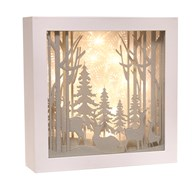 LED Christmas Forest Scene 24.5cm