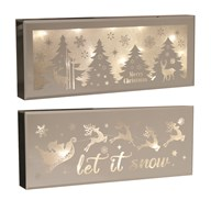 LED Xmas Scene 40x16cm 2 Assorted