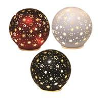 LED Xmas Star Ball 11.5cm 3Ast