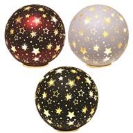 LED Xmas Star Ball 14.5cm 3Ast