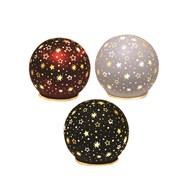 LED Xmas Star Ball 9.5cm 3Ast