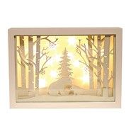 LED Xmas Window Scene 25x30cm