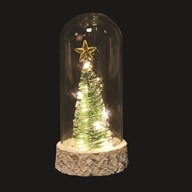 LED Christmas Tree Dome White  (10 lights)  18cm