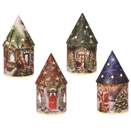 Light Up Fairy House 22cm 4Ast