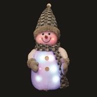 Light Up Snowman 33cm