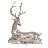 Lying Reindeer Silver 27cm