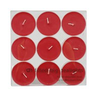 Maxi Tealights Red Pack of 9