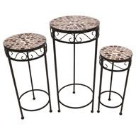 Mosaic Copper Tables Set of 3 65/56/48cm