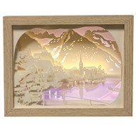 Mountain Light Up Box 23.5 x 18cm